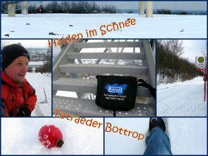 Halden im Schnee